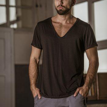 T-shirt ROLO czarny
